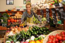 Vegetables Seller In Retail St...