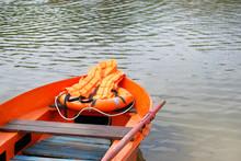 Boat, Life Jacket, Lifebuoy In...