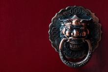 Red Chinese Door Knocker . Bronze Unique Lion Head A Great China Door Knob .