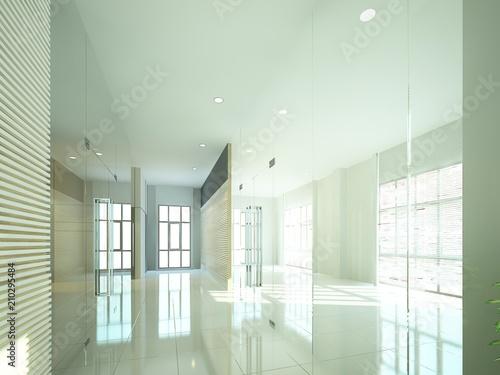 Staande foto Industrial geb. sketch design of interior hall, 3d rendering