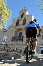 Subida En Bicicleta Al Santuario De La Virgen De La Cabeza, Sierra De Andújar, Provincia De Jaén, Andalucía, España