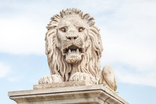 Scaring Stone Lion From The Ch...