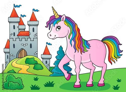 In de dag Voor kinderen Happy unicorn topic image 5