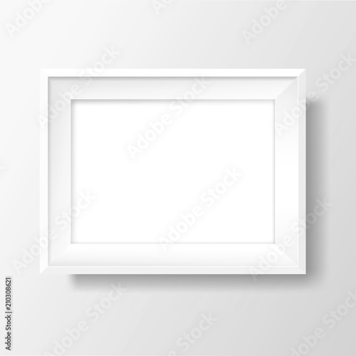 A4 Blank white frame on white wall. Vector template - Buy this stock ...