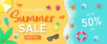Summer Sale Background For Ban...