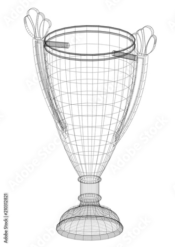 Fotografía  Trophy Design Architect Blueprint - isolated