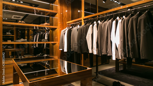 Fotografia  A luxury store with men clothing.