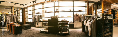 A luxury store with men clothing. Canvas-taulu