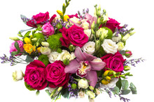 Flower Arrangement With Roses,...