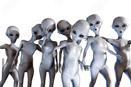 Canvastavla aliens