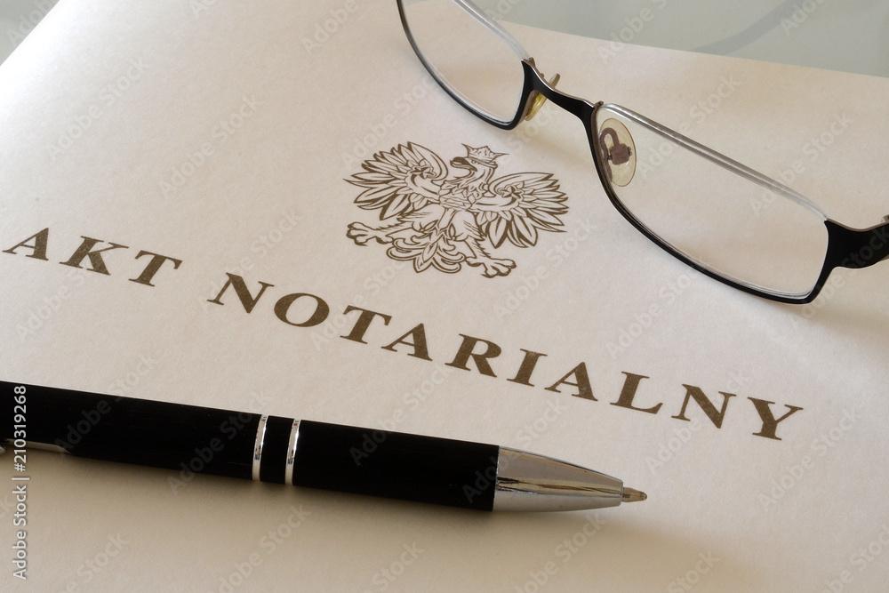 Fototapety, obrazy: Akt notarialny