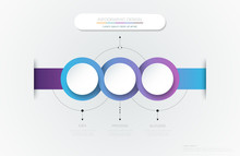 Vector Infographic 3d Circle Label Template Design.Infograph With 3 Number Options Or Steps. Infographic Element For Layout, Process Diagram, Parts, Chart, Graphic, Info Graph, Flowchart, Presentation