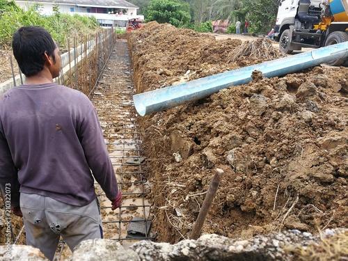 Cadres-photo bureau Gris traffic Continuous concrete casting, Thailand
