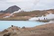 Landschaft beim Mývatn Nature Bath / Kieselgurwerk in Nord-Island