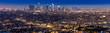 Leinwanddruck Bild - Los Angeles Downtown sunset