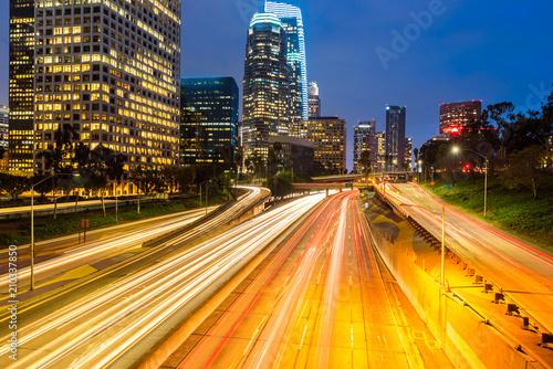 Zdjęcie XXL Zachód słońca w centrum Los Angeles
