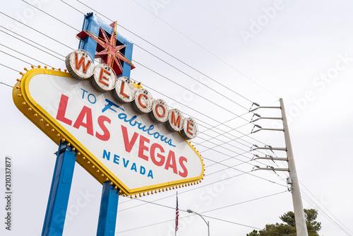 Poster Las Vegas Famous Las Vegas sign