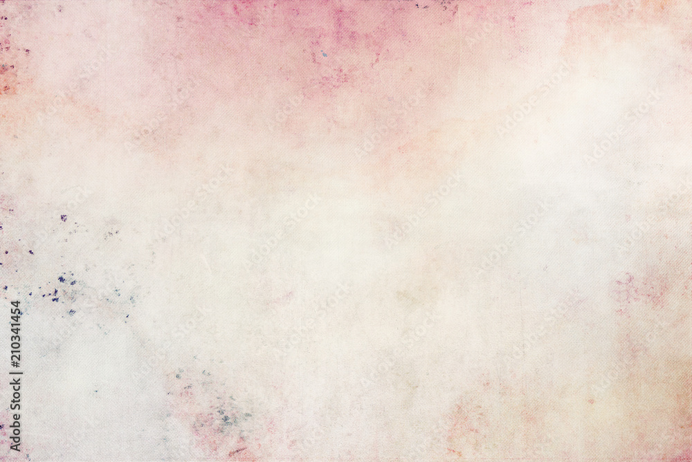 Fototapety, obrazy: Beautiful romantic background in watercolor light colors canvas texture