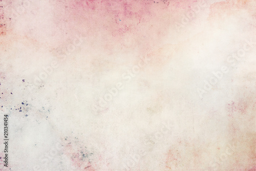 Obraz Beautiful romantic background in watercolor light colors canvas texture - fototapety do salonu