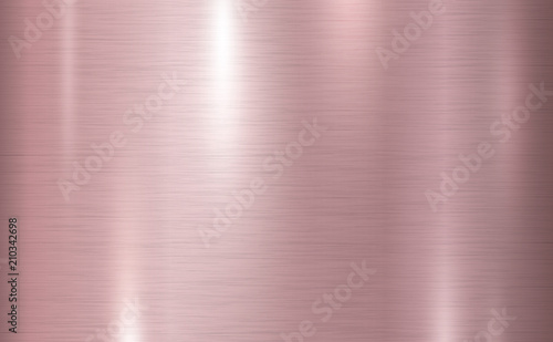Poster de jardin Metal Pink copper metal texture background vector illustration