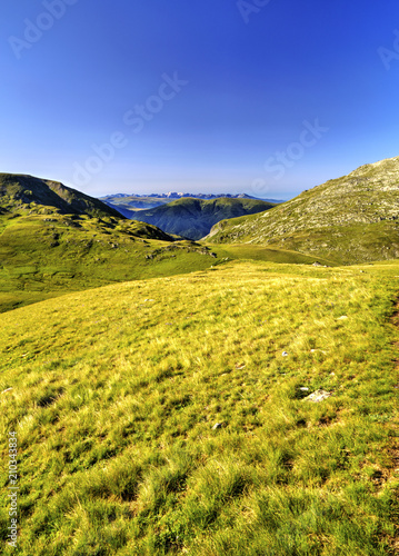 Foto op Aluminium Oranje Beautiful landscape in the high mountain