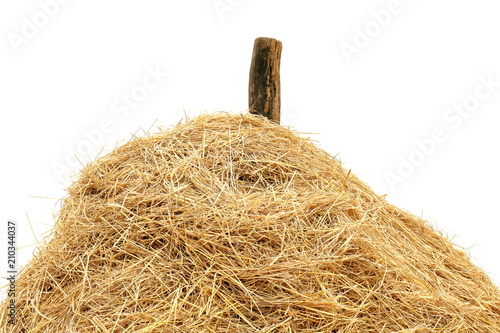 Fotografie, Obraz straw, straw heap close-up big, straw mountain, mountain stack hill of straw on