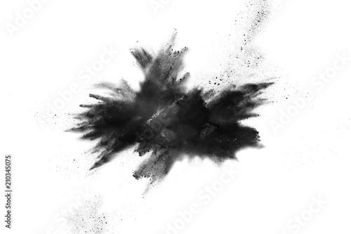 Poster Aigle Black powder explosion isolated on white background