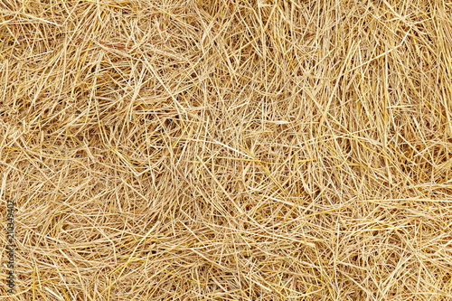 Fotografia straw, dry straw, hay straw yellow background, hay straw texture