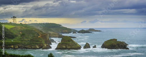 Viavelez coast in Asturias