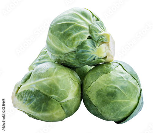 Papiers peints Bruxelles Brussels sprouts isolated on white background. Clipping path