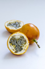 Exotic Fruit Of Grenadilla On White Background