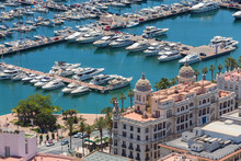 Alicante Harbor Spain From Above