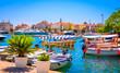 Leinwandbild Motiv Port in old town Budva, Montenegro