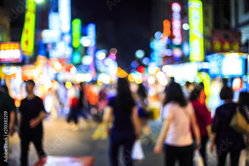 台湾 六号夜市 Liuhe Night Market Fototapeta