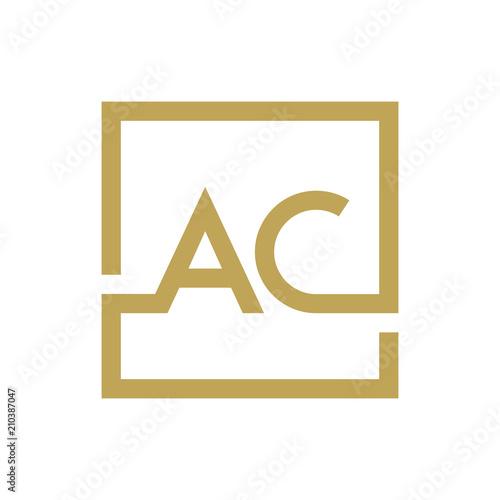AC letter logo line square Wallpaper Mural