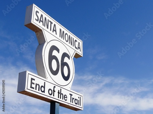 Keuken foto achterwand Route 66 Santa Monica Route 66