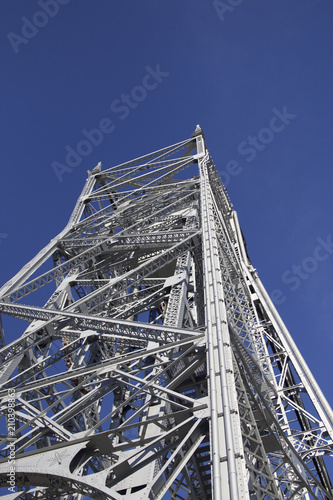 tower, sky, construction, steel, blue, metal, building