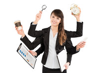 Multitask Business Woman With ...