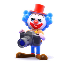 Vector 3d Clown Photographer