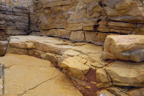 In de dag Stenen The texture of the ancient stone