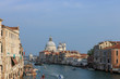Travel photo of the Grand Canal from the iconic Rialto Bridge, one of the major landmark in Venice, Italy.