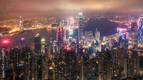 Foto auf Gartenposter Hongkong city lights