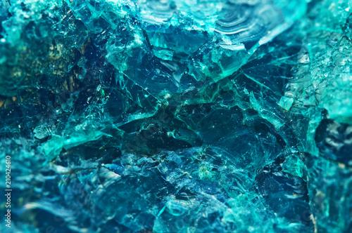 Crystal stone. Beautiful natural turquoise background. Macro. Extreme closeup beautiful jewel background. Unique macro photo