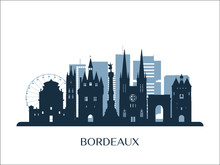 Bordeaux Skyline, Monochrome S...