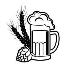 Beer, Brewing Vector Icon