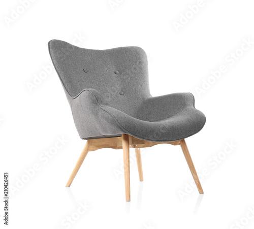 Cuadros en Lienzo  Comfortable armchair on white background. Interior element