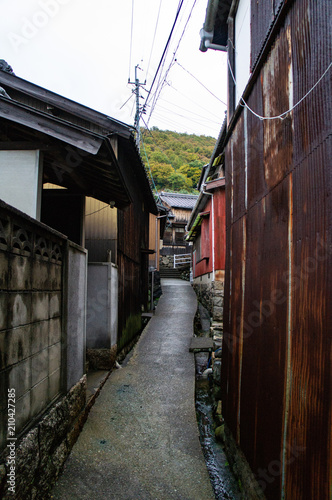 Valokuva  小豆島の坂手の小路(香川県、日本)