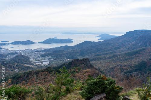 Photo sur Toile Jungle 夕方の小豆島、寒霞渓からの景色(香川県、日本)