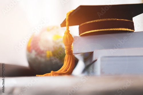 Photo  Graduated or Graduation university study abroad international Conceptual, Master