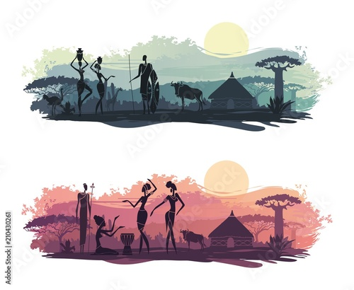 Background with landscape of South Africa Wall mural